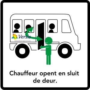 de-chauffeur-opent-en-sluit-de-deur